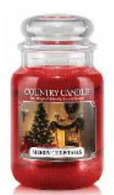 MERRY CHRISTMAS Country Candle Large 23oz 2-Wick Scented Jar Candle (Merry Christmas Candle)