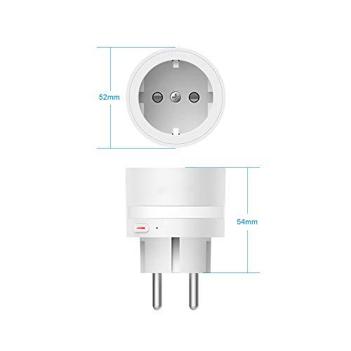 Szshining Presa Intelligente Wifi Smart Plug Compatibile con Alexa Google Home, Presa Alexa con luce notturna a LED, Presa Smart Controllo Remoto Funzione di Temporizzazione per iOS Android 10A 2pack