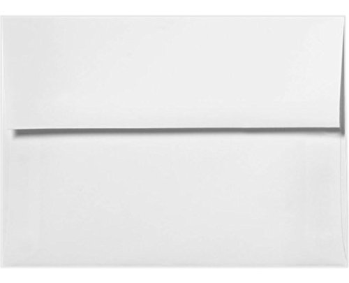 A7 Invitation Envelopes w/Peel & Press (5 1/4 x 7 1/4) - White - 100% Recycled (500 Qty) | Perfect for Invitations, Announcements, Sending Cards, 5x7 Photos | Printable | 80lb Paper | 4880-WPC-500