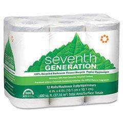 Full Carton Pack (Seventh Generation® SEV13733 100% RECYCLED BATHROOM TISSUE ROLLS, 2-PLY, WHITE, 300 SHEETS, 12 ROLLS/PACK **Full Carton Of:4 PK **)