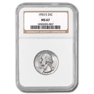 1953 S Washington Quarter MS-67 NGC Quarter MS-67 NGC