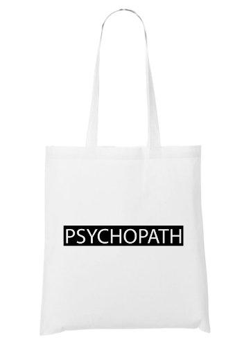 Psychopath Block Bag White