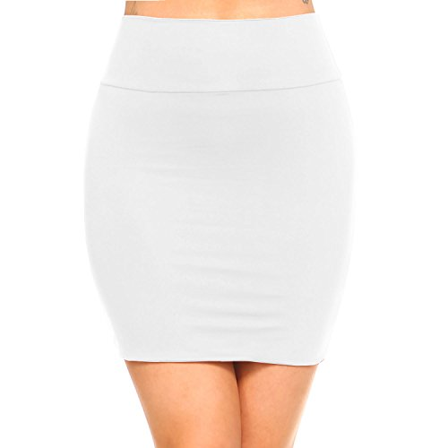Fashionazzle Women's Casual Stretchy Bodycon Pencil Mini Skirt (X-Large, - Mini Pencil Skirt