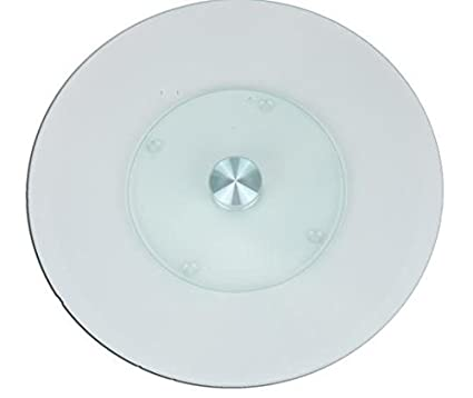 Clear Glass Revolving/Rotating Plate 11.8u0026quot; Diameter for Cake and Muffins  sc 1 st  Amazon.com & Amazon.com | Clear Glass Revolving/Rotating Plate 11.8