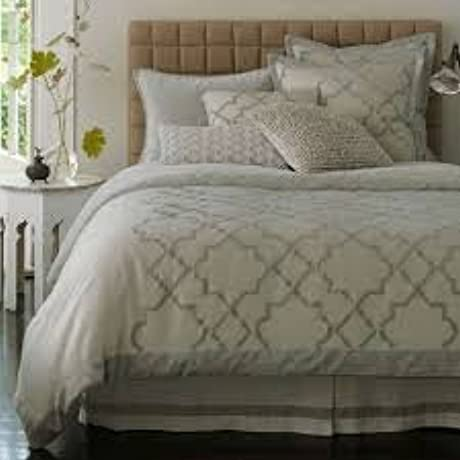 Nostalgia Home Fashions Alhambra Coverlet Queen Grey