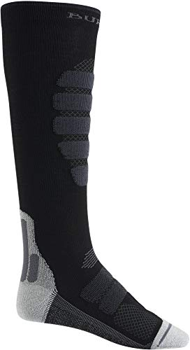 (Burton Men's Performance + Lightweight Socks, True Black, Large)