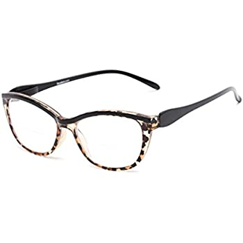 9a1015e96f2 Readers.com Bifocal Reading Glasses for Women  The Ambrosia Womens Bifocals  - Stylish Cat Eye Leopard and Black +1.50