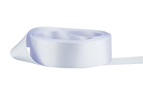 Ribbon Bazaar Double Faced Satin 7/8 inch Lilac Mist 50 Yards 100% Polyester Ribbon