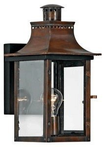 Quoizel CM8408AC Chalmers Outdoor Lantern Wall Sconce, 1-Light, 100 Watts, Aged Copper (15