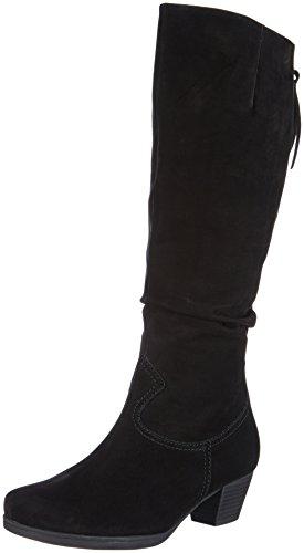 Gabor Shoes Gabor Comfort - botas de caño alto de cuero mujer negro - Schwarz (schwarz (Micro))
