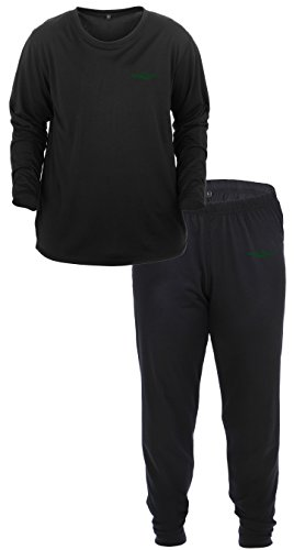 Lucky Bums Kid's Base Layer Long Sleeve Crewneck and Pants Set, Large