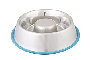 Stainless Steel Dog Bowl That Makes Them Eat Slower