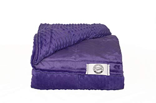 Cheap Handcrafted Weighted Blanket - Full Size - Made in America - 1 Piece for Easy Care and Cool Sleep - Size & Color Options (Purple 20lb 54x80) Black Friday & Cyber Monday 2019