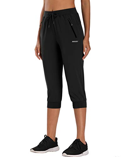🥇 MOCOLY Women's Hiking Cargo Pants Quick Dry Stretch Lightweight Outdoor Water Resistant UPF 50 Fishing Camping Capri Pants
