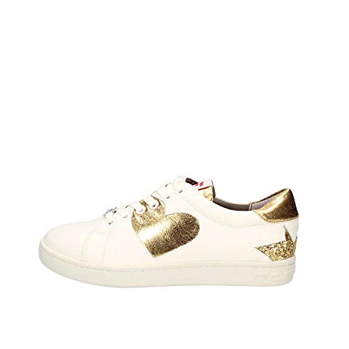 Basse Sneakers oro Donna Fornarina Pe18an1059vl91 Bianco Scarpe E6Stxnqwnv