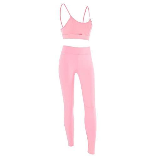 Dioche Conjunto de Ropa de Yoga o Entrenamiento para Mujer, Pantalones de Sujetador Deportivo de Mujer y Conjunto de Polainas...