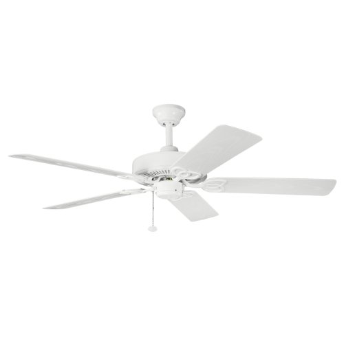 Kichler  339520WH Sterling Manor Patio 52IN Energy Star Outdoor/Indoor Ceiling Fan, White Powder Coat Finish with White ABS Blades