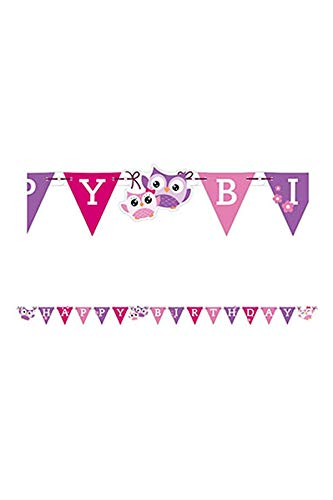 Amscan Owls Happy Birthday Letter Banners ()