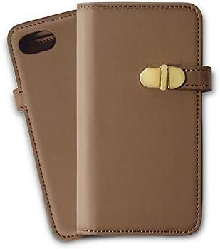 iphone xsmax ケース 手帳型 ミラー かわいい iphonexsmax テンエスマックス カード収納 鏡付き レザー スマホケース アイフォンxsmaxケース カバー おしゃれ 大人可愛い 合成皮革 シンプル ブラウン