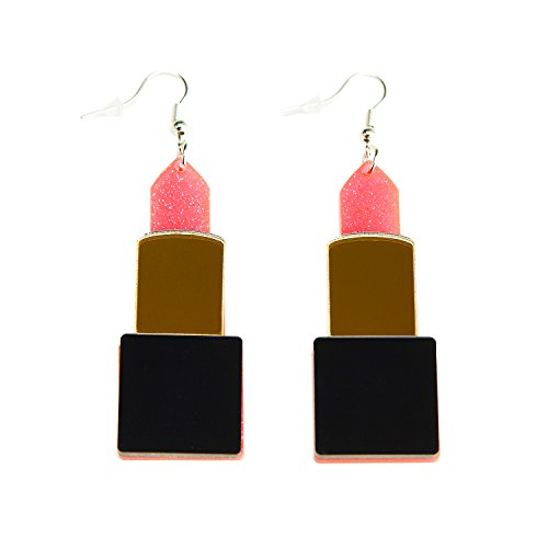 ZeroShop Women Fashion Retro Neon Lipstick Earrings