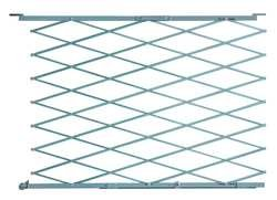 Industrial Grade 2XZG1 Steel Folding Gate, Opening 3-4Ft by Approved Vendor