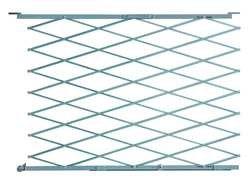 - Industrial Grade 2XZG1 Steel Folding Gate, Opening 3-4Ft