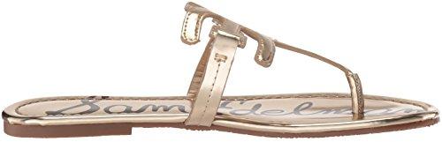 Metallic Flat Women''s Sam Carter Edelman Molten Liquid Sandal Gold 58wqtwp