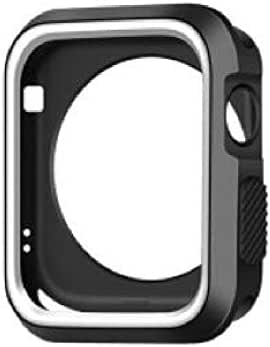 TPU protective shell Cover From Liger Compatible With Apple Watch 1/2 / 3/4 Size 40 MM Black and White Color