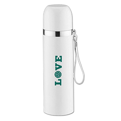 LOVE VOLLEYBALL Teal Funny Stainless Steel Vacuum Insulated Travel Mug 14OZ/350ml