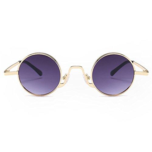 Retro Fansport Sol Sol De Gafas Libre Frame Moda Viajes para De Gafas Grey Metálica De Aire Sol Montura Al De Gafas con Lentes Golden ZwnZ8zqr