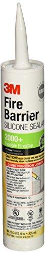 - 3M Fire Barrier Silicone Sealant 2000+, 10.3 fl. oz., Cartridge - 98040052999