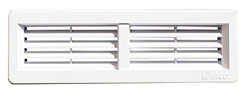 Haco Door Air Vent Grille Ventilation Grate White&Nbsp;220&Nbsp;X 55&Nbsp;Mm Asa Plastic For Kitchen Or Bathroom For Retrofitting