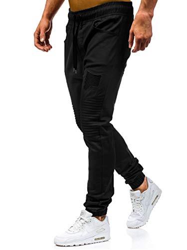 Sportivi Fit Basso Harem Stile Elastica Uomo Street Slim Trousers Coulisse Shallgood Lavoro Con Pantaloni Vita Chino Jogging Nero Cotone Cargo Casual w4nq8FP1