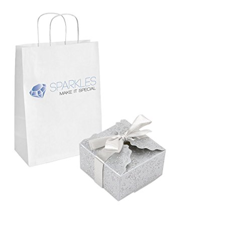 Sparkles Make It Special 10-pcs Large Ribbon Favor Candy Boxes Wedding Gift Candy Boxes Silver