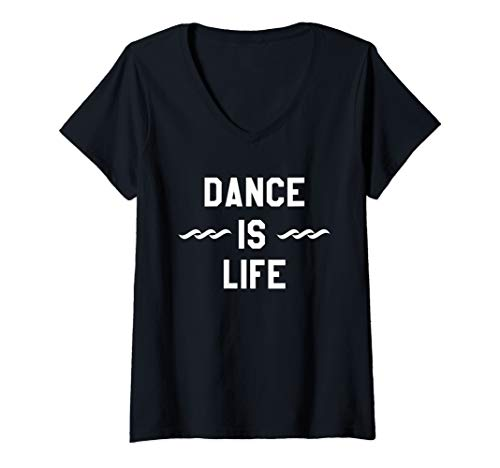 Womens Dance is Life Shirt,If You Stumble Make It Part of the Dance V-Neck T-Shirt (Dance Womens V-neck T-shirt)