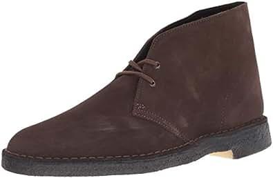 CLARKS Men's Desert Chukka Boot, Brown Suede, 6 Medium US