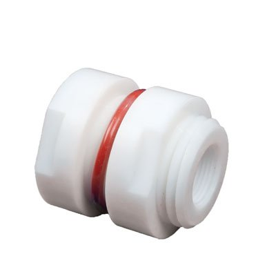 3/4inch Female NPT PTFE Bulkhead Fitting - 1-13/16inch Hole Size