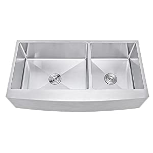 31vPpUFtToL._SS300_ 75+ Beautiful Stainless Steel Farmhouse Sinks For 2020