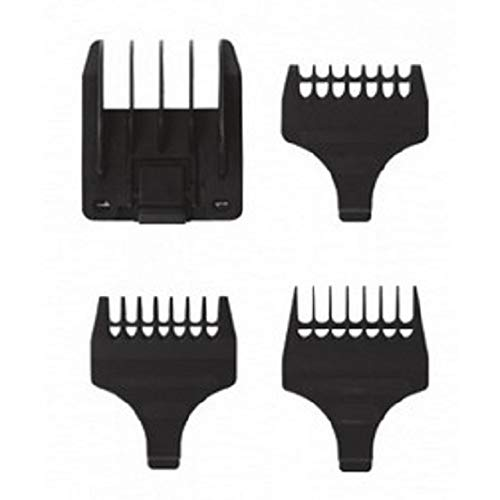 - Replacement 4 Piece Guide Combs, 6 Position and #1,2,3 Beard Combs for Select Wahl Trimmers