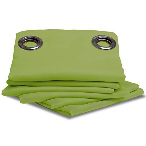 Moondream Verdunkelungsvorhang, Licht- und Sonnenschutz, Oeko-Tex, Grün - Apfelgrün, 145 x 260 (BxH) cm, Ösen (1 Vorhang)