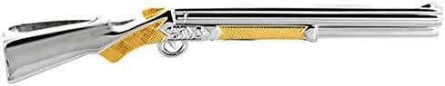 Silver/Gold 2-Tone Rifle Tie Slide by David Van Hagen