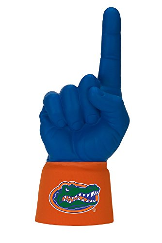 NCAA Florida Gators Licensed Foam Finger with Jersey Sleeve, Royal/Orange