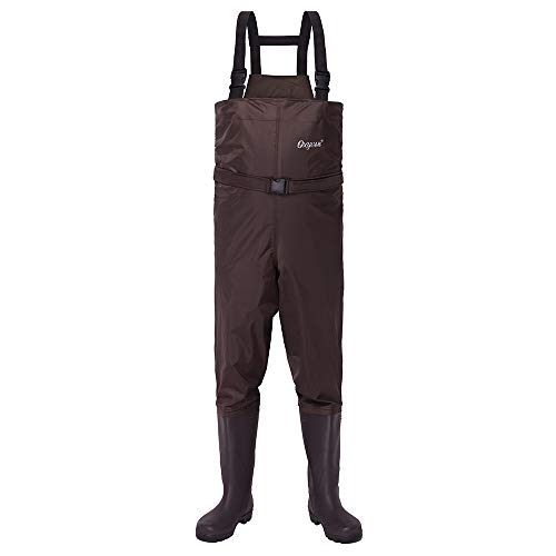 OXYVAN Chest Waders Waterproof Insulated and Lightweight Fishing Wader for Men and Women Brown