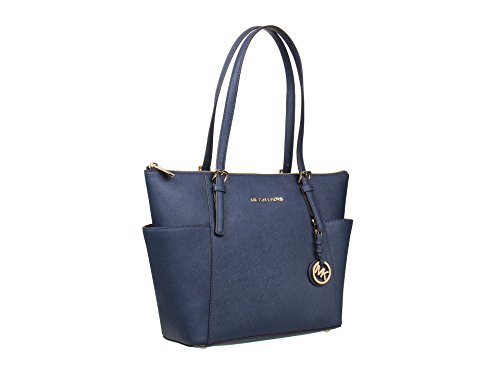 MICHAEL Michael Kors Women's Jet Set Travel Tote, Navy, One Size