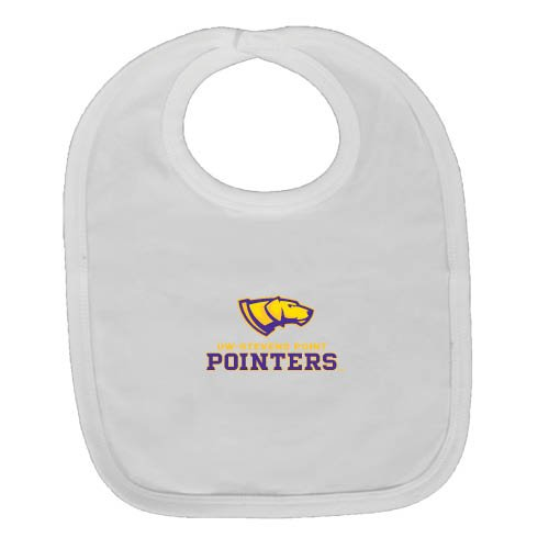 UW Stevens Point White Baby Bib 'Official Logo' by CollegeFanGear