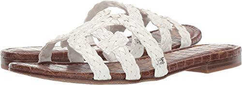 Sam Edelman Women's Beckie Slide Sandals, White, 4.5 M US ()