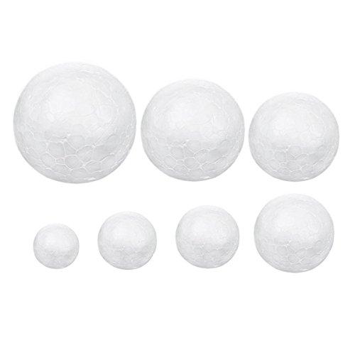 Deco4Fun Round Smooth Foam Polystyrene Balls Spheres - CH...