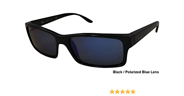 afb3ffc6ad ... best price amazon ray ban rb4151 sunglasses 601 68 black blue lens 59mm  clothing 99b4b 5ec37