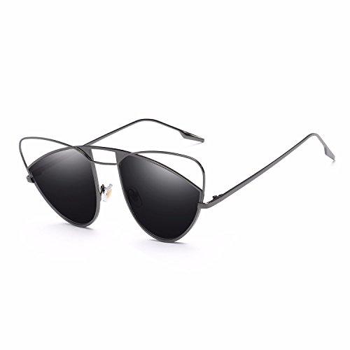 Personalidad Sol de Hombre A Sol Gafas polarizadas de Ojos C Intellectuality Retro de Gafas Mujer TwqpS1C