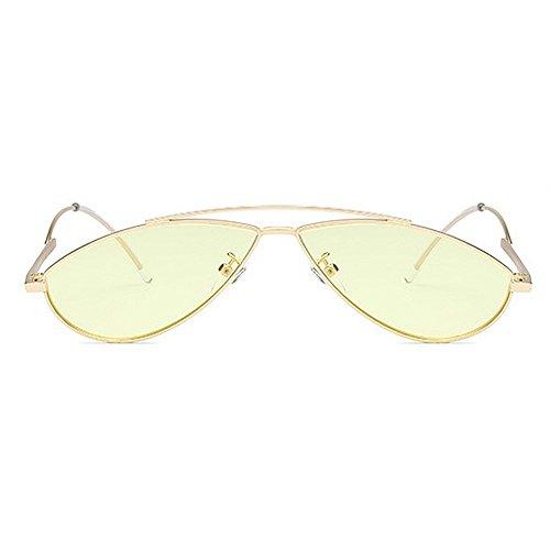 femmes Rétro Lady petit la soleil designer lunettes ovale nouveauté lunettes hommes lunettes de les unisexe personnalité pour conduite soleil de et Cat PC Eyes nuances les protection soleil UV de Jaune Lens 8qxqwHItr